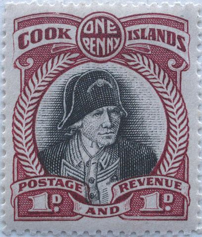 Die Briefmarke der Cook Islands